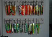Lures on Charter Fishing Boat