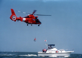 U.S. Coast Guard Helicopter and Vessel