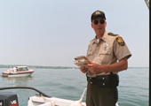 Ohio Division of Wildlife Conservation Officer on Patrol