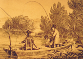Drawing, Recreational Fishing, Historical